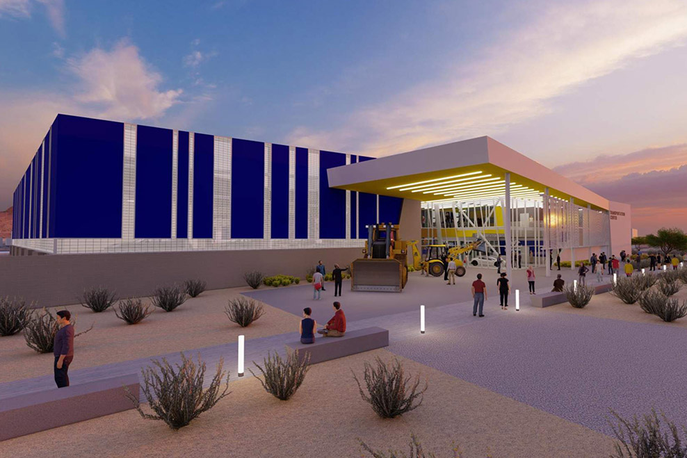 Rendering of new Pima Community College Center of Excellence transportation building